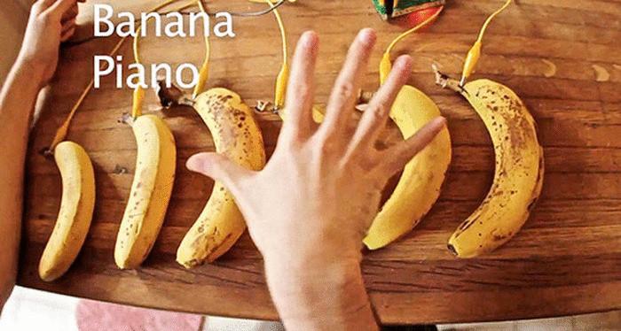 Пианино из бананов.