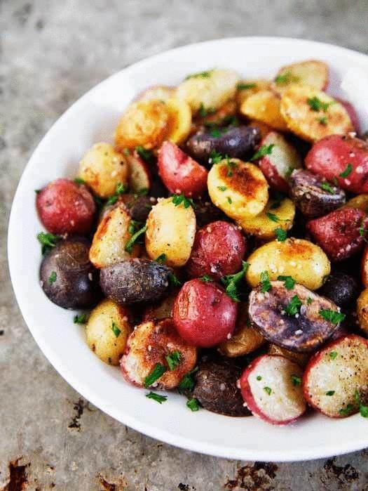 Цветной картофель