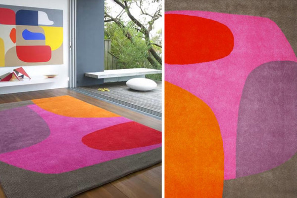 Красочный ковер от Dinosaur Designs.