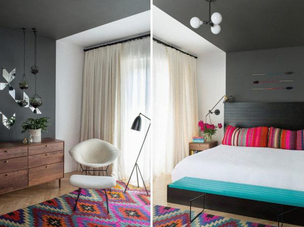 Красочный килим в интерьере от Jessica Helgerson.