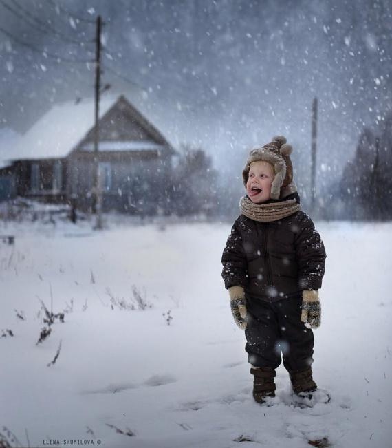 Дети в деревне