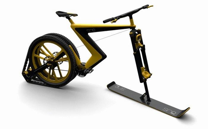 Велосипед-снегоход Sno Bike для поездок в зимнее время года