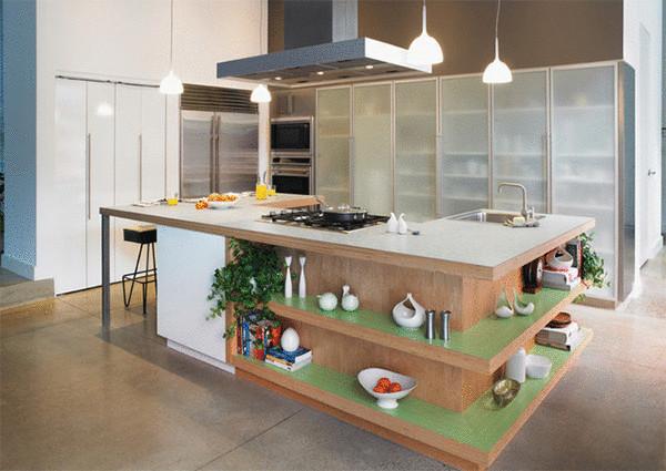 Стильный дизайн кухни от Formica Group.