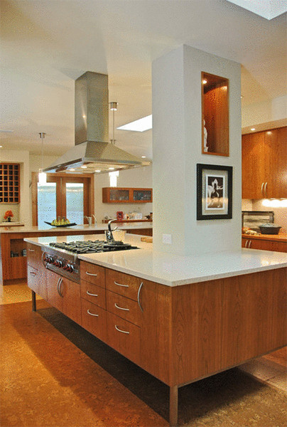 Дизайн большой кухни от BARRETT STUDIO architects.