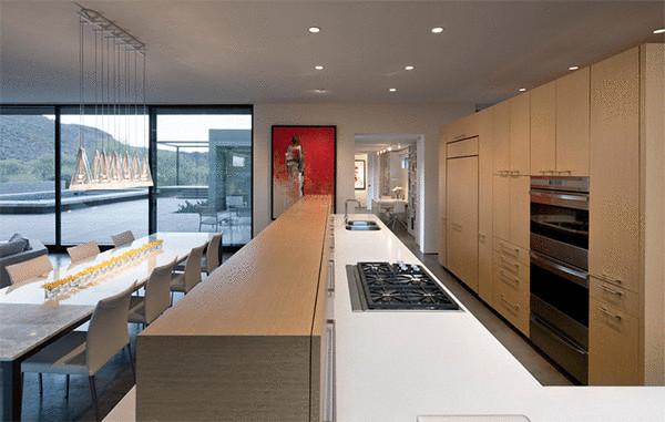 Дизайн кухни от Ibarra Rosano Design Architects.