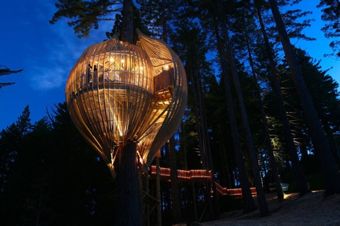 Изумительный ресторан на дереве «Yellow Treehouse».