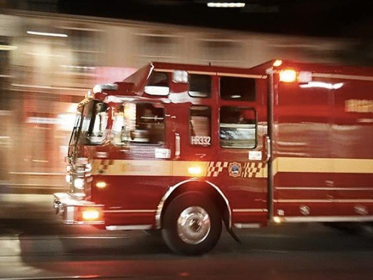 Поздравление водителя пожарной машины